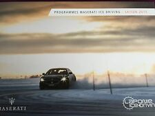 Catalogue brochure Katalog MASERATI ICE DRIVING Année 2014 6 pages