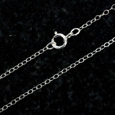 36 Inch Sterling Silver Cable Chain Necklace W/ Spring Clasp and Closed Rings