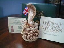 Harmony Kingdom Fit for a King Cobra UK Made Marble Resin Box Figurine NIB SGN