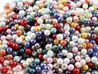 100Pcs Mixed Czech Glass Pearl Round Loose Spacer Beads 4MM 6MM 8MM 10MM 12MM