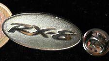 Mazda Pin Badge RX8 Logo Wappen Emblem Edelstahl Schriftzug oval