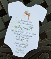 Tinkerbell Baby Shower Invitation Onesie - All Wording Customized For You!
