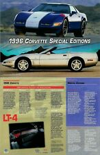 1996 Chevrolet Corvette Special Editions Data Sheet - Set of TWO & FREE Shipping