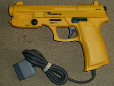 SONY PLAYSTATION 1 PS1 LIGHT GUN PISTOL Blaster Logic3 Protector in Yellow G-con