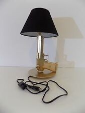 LAMPE DESIGN DESERT EAGLE or(chevet bureau table militaire police arme no Starck