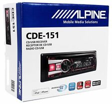 Alpine CDE-151 Car Stereo CD USB MP3 Receiver Radio w/ Pandora+iPod Control