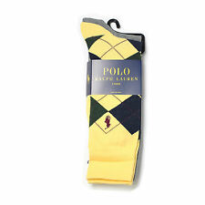 New Men's Polo Ralph Lauren Argyle Dress Socks 2Pair