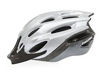 RALEIGH MISSION EVO CYCLE BIKE HELMET SILVER MEDIUM 54 - 58cm