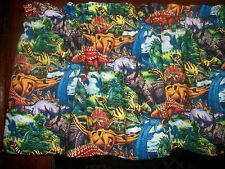 Dinosaurs Animals childrens boys bedroom fabric curtain window topper Valance