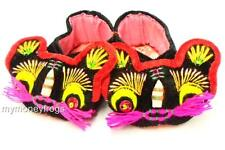 Black Chinese Oriental Baby Boy Girl Hand Made Embroidered Tiger Asian Shoes