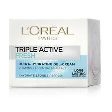 (6 PACK) L'Oreal Triple Active Fresh Ultra Hydrating Gel Cream 50ml