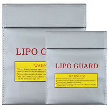 Lipo Battery Safe Bag, Fireproof Explosion-proof Lipo Guard Bag, Pack of 2, L&S