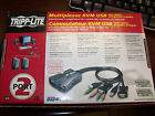 NIB TRIPP LITE USB KVM SWITCH B034-002-R WITH BUILT IN CABLES AND AUDIO