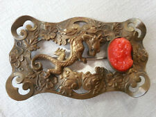 LARGE VICTORIAN SASH PIN WITH GLASS CAMEO
