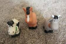 Farm Animal Toys Lot Preschool Toddler Brown Horse White Gray Cow Bell Goat HTF