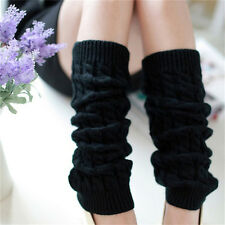 Womens Winter Knit Crochet Knitted Leg Warmers Legging Boot Cover Hot   Fashion