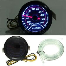 52mm 2″ Digital LED Turbo Boost Meter Pressure Gauge Smoke Face Tint 35 PSI New