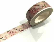 1PC NEW Japanese Washi Tape Craft Sticker, Cherry Blossom Sakura Pink Flower 10M