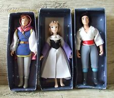 Bundle of 3 Boxed Disney 2004 China Dolls by De Agostini inc Aurora & 2 Princes
