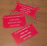 Engraved Sign, Memorial Plaque, Bench Plate