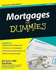 NEW Mortgages for Dummies by Eric Tyson Paperback Book (English)
