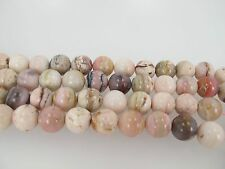 Natural Pink Opal beads, Peruvian opal round beads 12mm