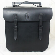 Repro WW2 German Army R75 Motorcycle Black Leather BMW Pack Motorbike Panniers