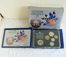 AUSTRALIA 2001 CENTENARY OF FEDERATION 6 COIN PROOF YEAR SET - complete