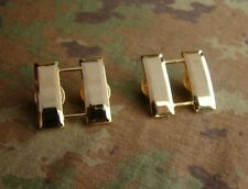 WW2 PAIR OF U.S. US ARMY OFFICER'S CAPTAIN RANK COLLAR INSIGNIA MILITARY BADGES