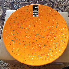 Zak! Designs 11 inch Melamine Plate Orange Set of 6 NEW