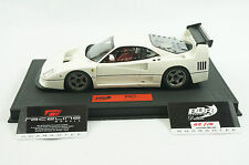 1/18 BBR FERRARI F40 LM COLOR GLOSS WHITE ON BLACK DELUXE LEATHER BASE 10 PCS MR