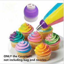 Top Converter Tri-color Icing Piping Nozzle Cream Coupler Cake Decorating Tools