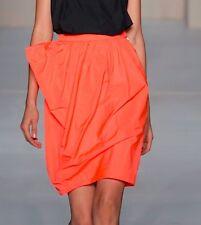 Nwt $278 Marc by Marc Jacobs Ellsworth Draped Taffeta Pencil Skirt ~Lava *8