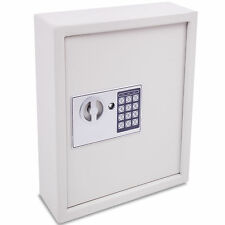 SOLID STEEL DIGITIAL SECURITY LOCKABLE 36 KEY CABINET SAFE STORAGE HOME OFFICE
