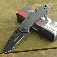 Kershaw Cryo Hinderer 8Cr13MoV Blackwash Tanto A/O Framelock Knife 1555TBW