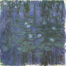 Claude Monet Blue Water Lilies Giclee Canvas Print Paintings Poster Reproduction