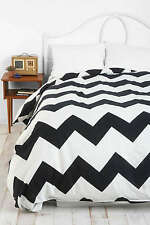 Urban Outfitters Assembly Home B&W Zig Zag Chevron Full/Queen Duvet Cover NEW