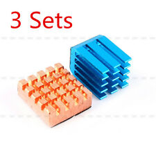 3Sets Copper Aluminium Cooling Heatsink Kit For Raspberry Pi B+/Raspberry Pi 2