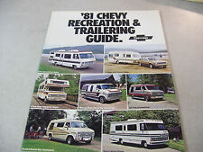 Rare 1981 Chevy Recreation and Trailering Guide Truck Brochure 27 Pages!