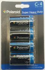 Polaroid C Type 1.5v R14P Heavy Duty Battery Mercury Free Batteries 4 Pack