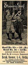Bernh.Stoewer A.G. Stettin GREIF 31 a & 31  Historische Reklame von 1899