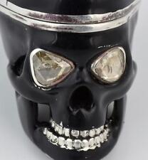The ultimate Memento Mori SKULL Verge Fusee Silver,Enamel&3ct DIAMONDS watch!!!