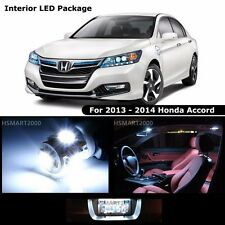 14PCS Cool White LED Bulbs Interior Kit for 2013 - 2014 Honda Accord