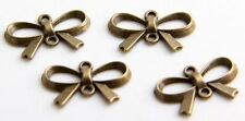 18Pcs Ancient Bronze Bow-knot Connectors Findings 21x14mm (Lead-free)