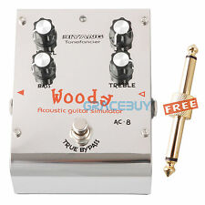 Biyang AC-8 Woody Acoustic Guitar Simulator Effect Pedal Tone Fancier Series NEW