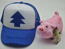 Gravity Falls DipperPines Hat+Mabel Pines Waddles Plush Toy Dolls 2pcs