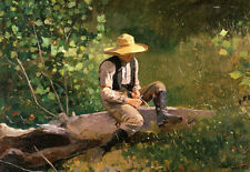 "The Whittling Boy  by Winslow Homer  Paper Print Repro   20"" x 13.8""  Image Size"
