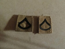 MILITARY PATCH US ARMY SEW ON RANK SET OF 2 DESERT PRIVATE FIRST CLASS