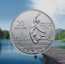 2014 Canada $20 Summer Time Commemorative .9999 Fine $20for$20 Silver coin COA