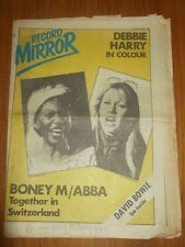 RECORD MIRROR FEBRUARY 24 1979 DEBBIE HARRY BONEY M ABBA DAVID BOWIE DAVID ESSEX